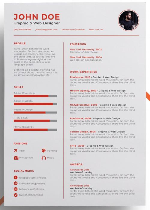 52 Best Blogger Resume Template with Pictures