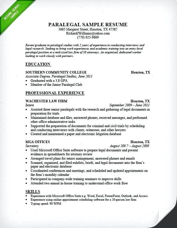 52 Excellent Associate Degree Resume Sample with Images