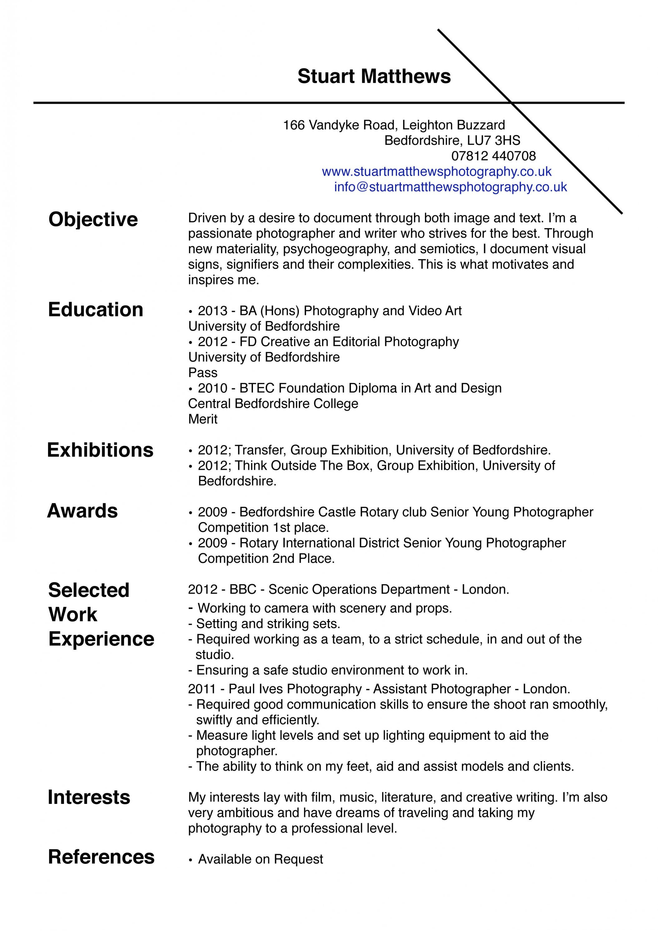 53 Best Photographer Resume Pdf by Images