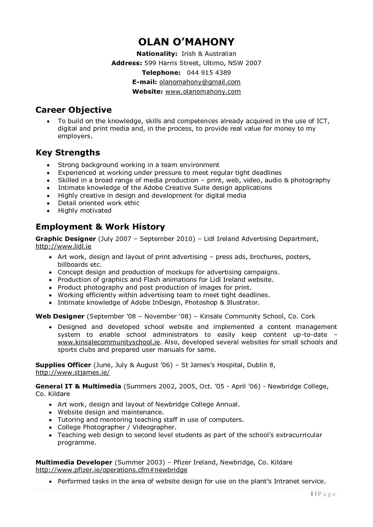 53 Great Photographer Resume Pdf by Pics