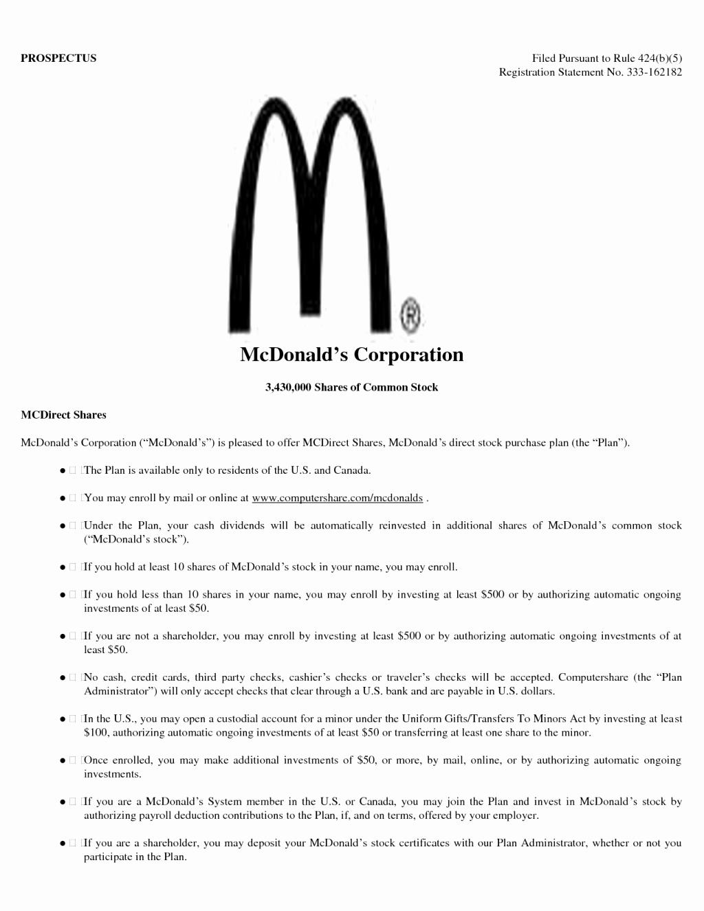 54 Awesome Mcdonalds Crew Member Job Description For Resume for Gallery