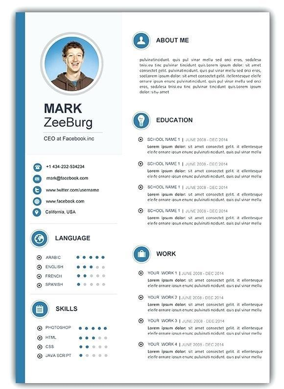 54 Excellent Combination Resume Template 2018 with Design
