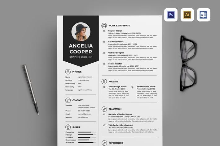 55 Stunning Envato Resume Template by Design