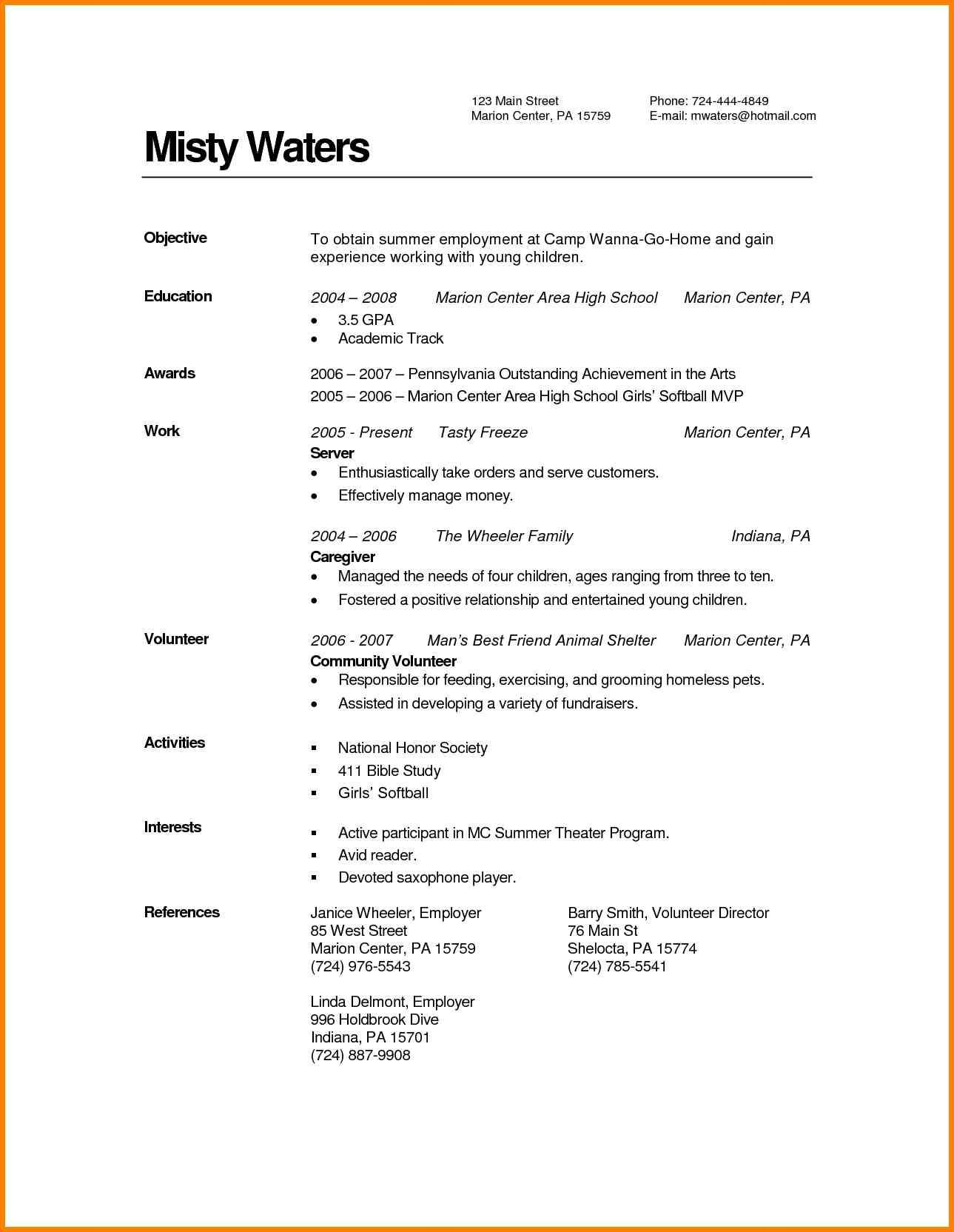 57 Awesome Associate Degree Resume Sample with Gallery
