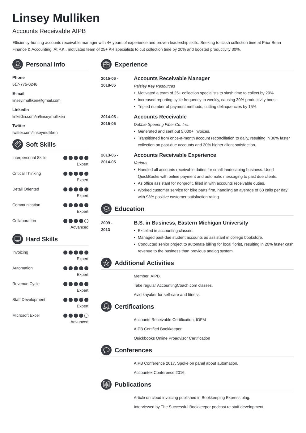 58 Lovely Accounts Receivable Resume Objective with Graphics