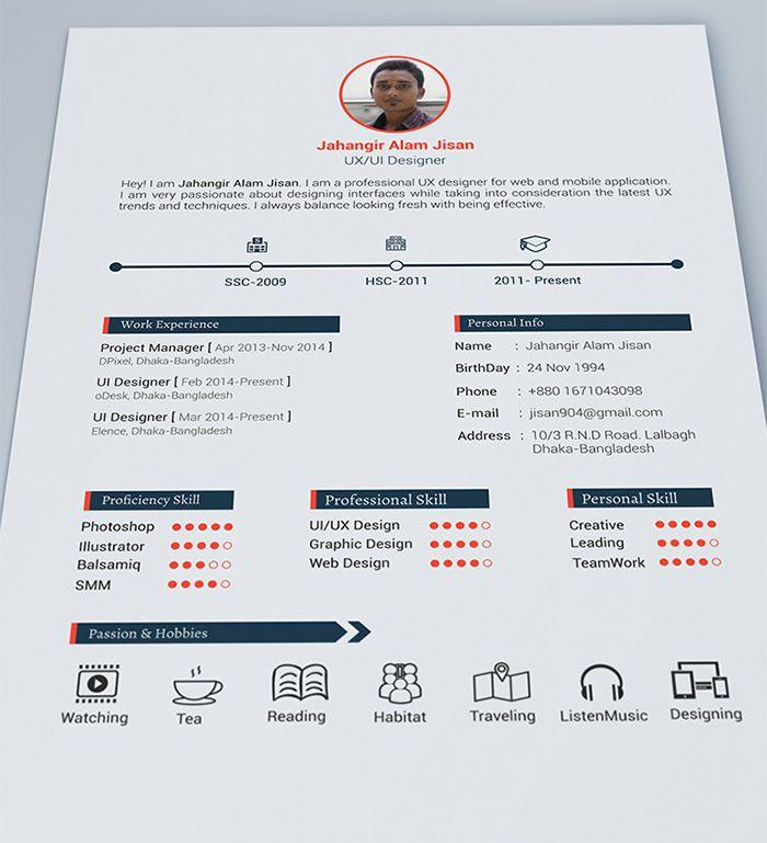 60 Excellent Beautiful Resume Templates Free with Images