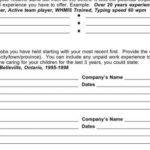 60 Top Blank Resume Worksheet with Ideas