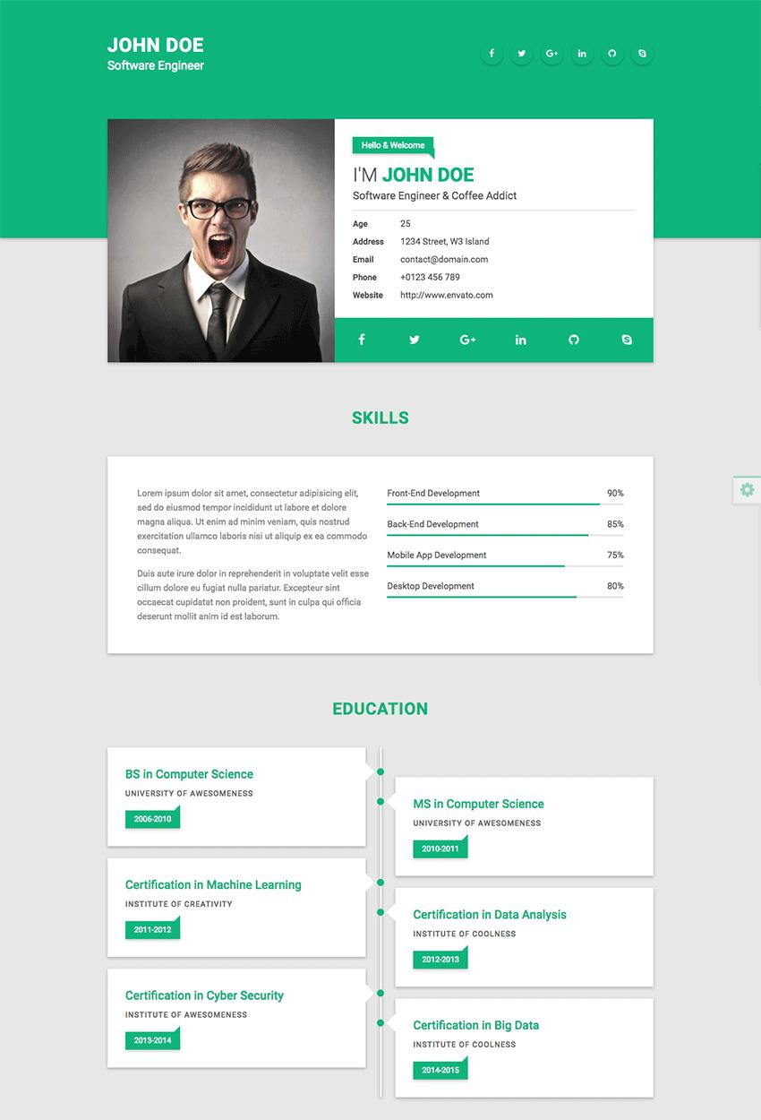61 Cool Blogger Resume Template with Pictures