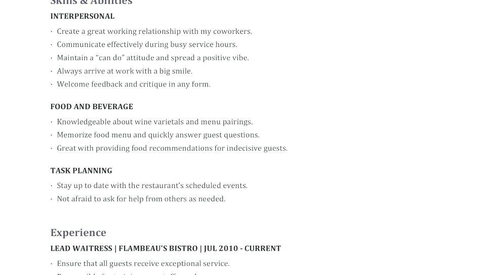 62 Stunning Resume For Cleaning Job for Pics