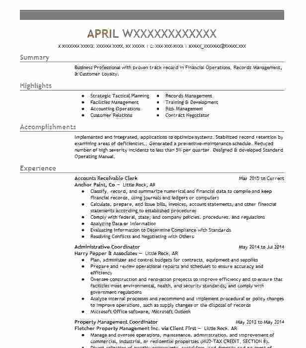 63 Great Accounts Receivable Resume Objective with Graphics