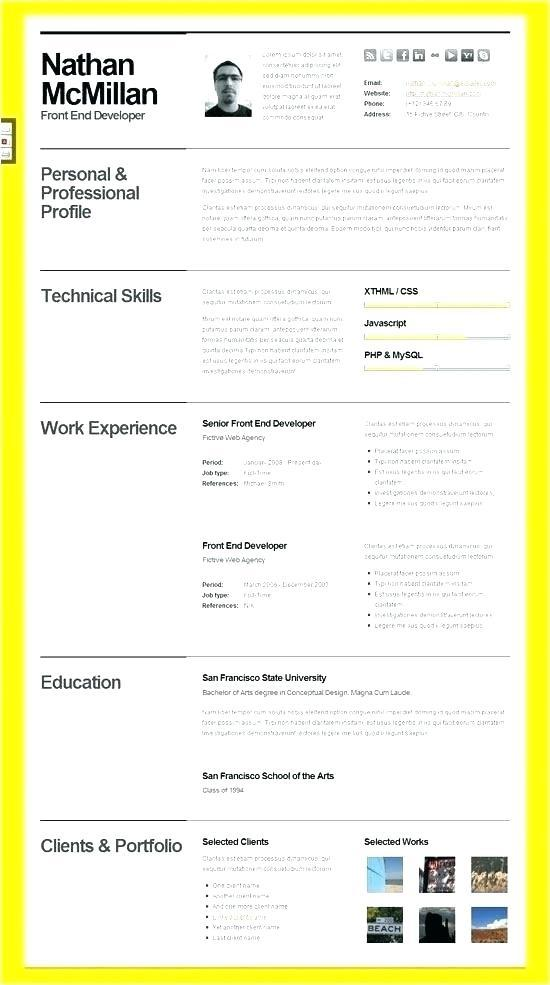 64 Beautiful Adobe Illustrator Resume Template Free Download by ...