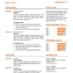 64 Best Wordpad Resume Template by Gallery