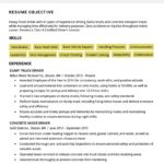64 Cool Truck Driver Resume for Images