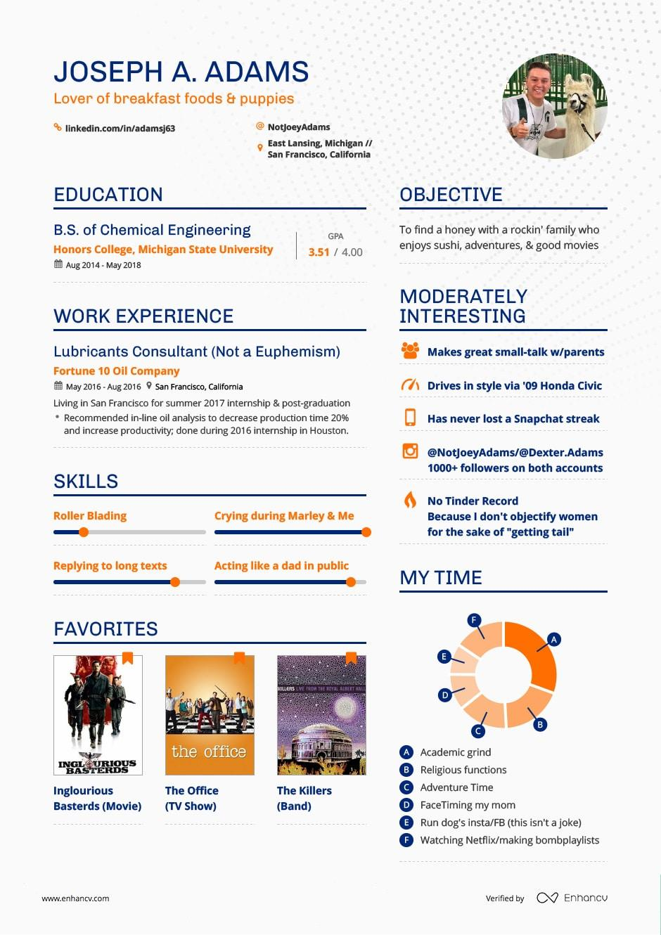 64 Fresh Dating Resume Template with Design