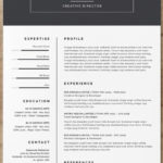 64 Stunning Indesign Resume Template Free for Design