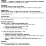 70 Best Hvac Resume Sample No Experience for Design