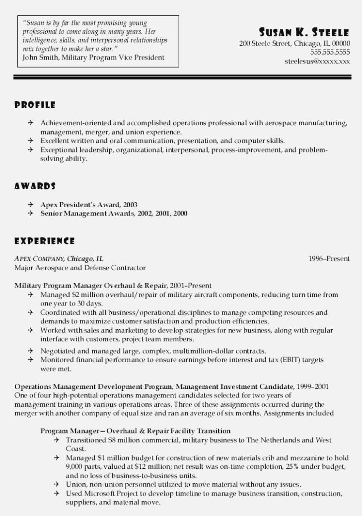 70 Stunning Military Resume Template Microsoft Word by Pictures