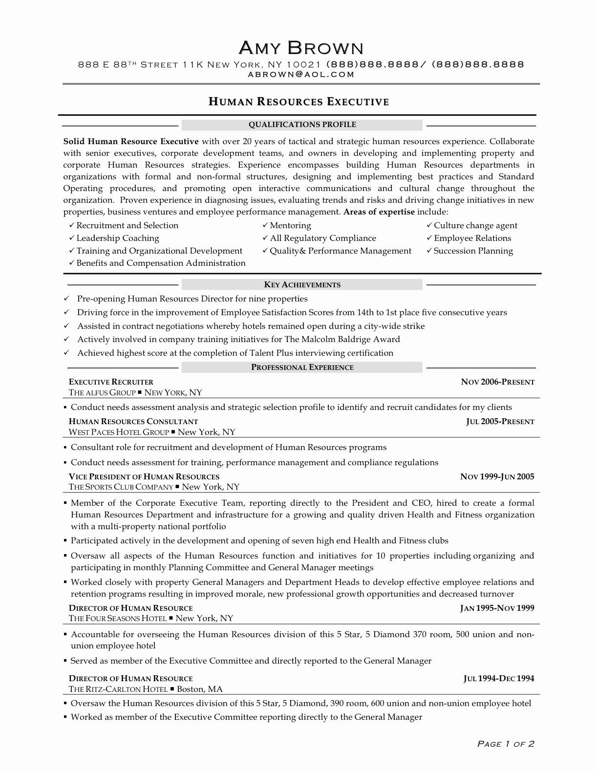 72 Best Sample Hr Generalist Resume with Pictures