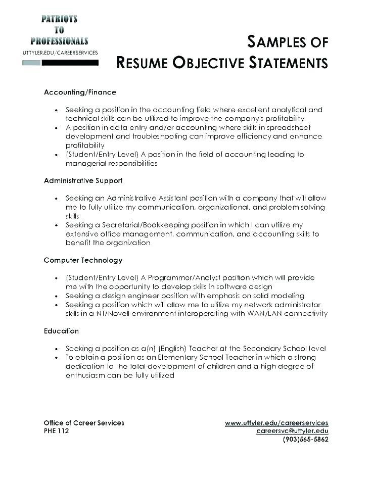 73 Beautiful General Resume Objective Examples with Pics