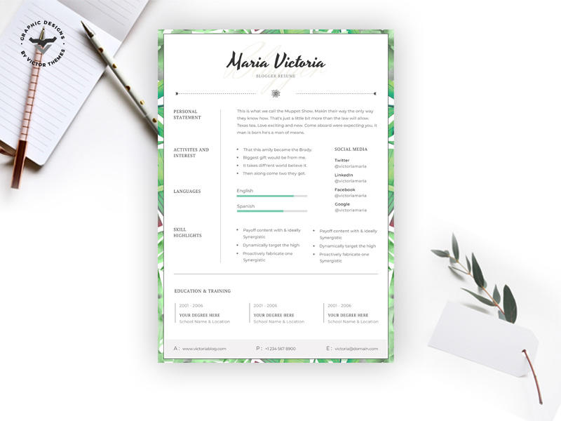 73 Top Blogger Resume Template with Pictures