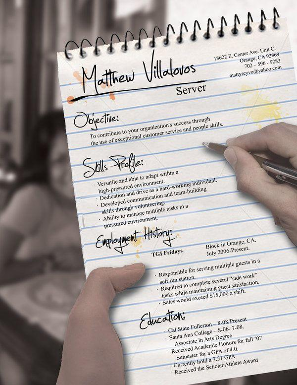 74 Fresh Handwritten Resume Examples for Design