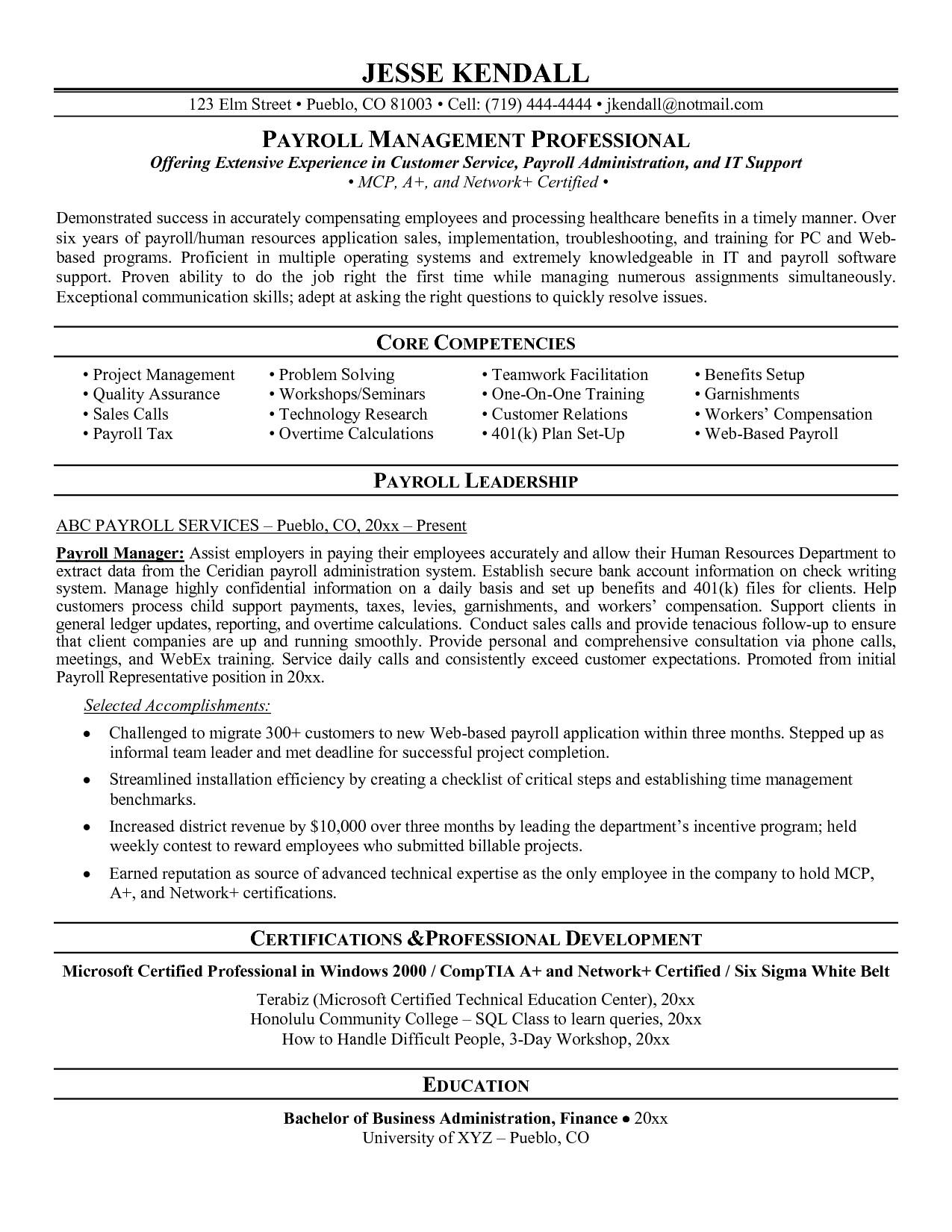 74 Lovely Payroll Specialist Resume by Ideas