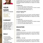 77 Fresh Two Column Resume Template with Pictures