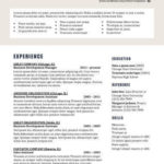 78 Great Two Column Resume Template with Graphics
