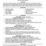 78 Inspirational Truck Driver Resume for Pictures