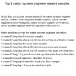 79 New Senior Systems Engineer Resume Sample with Pictures