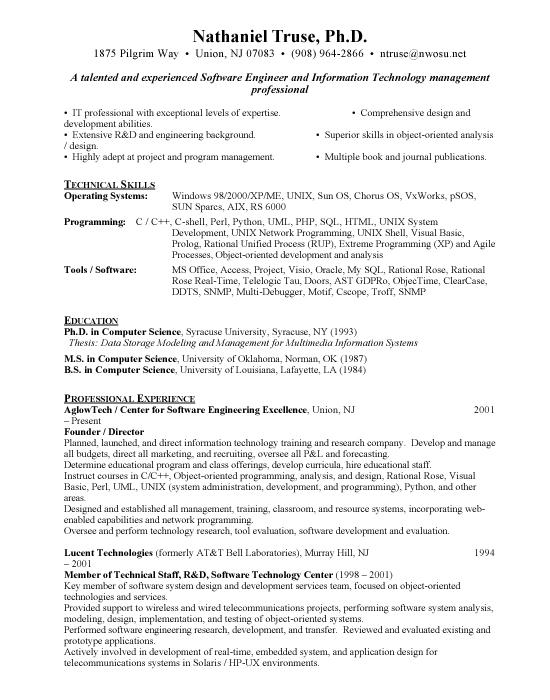 80 Top Entry Level Software Engineer Resume by Ideas