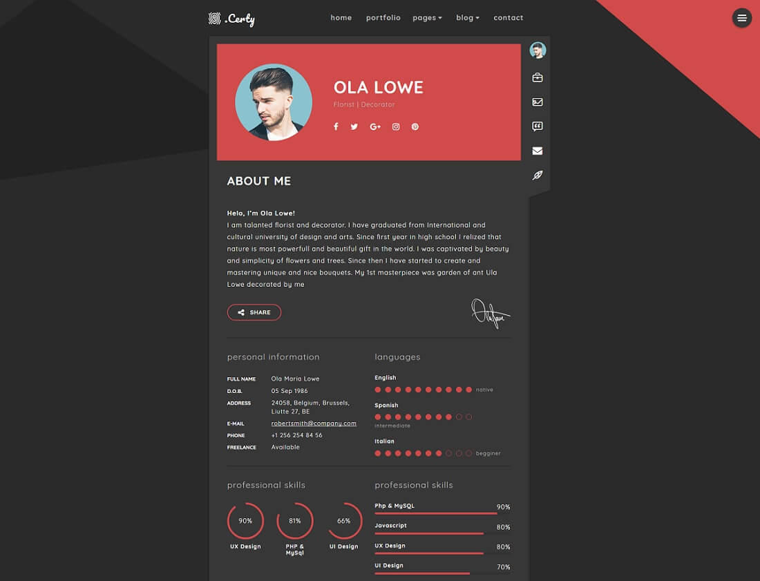 82 New Blogger Resume Template with Images