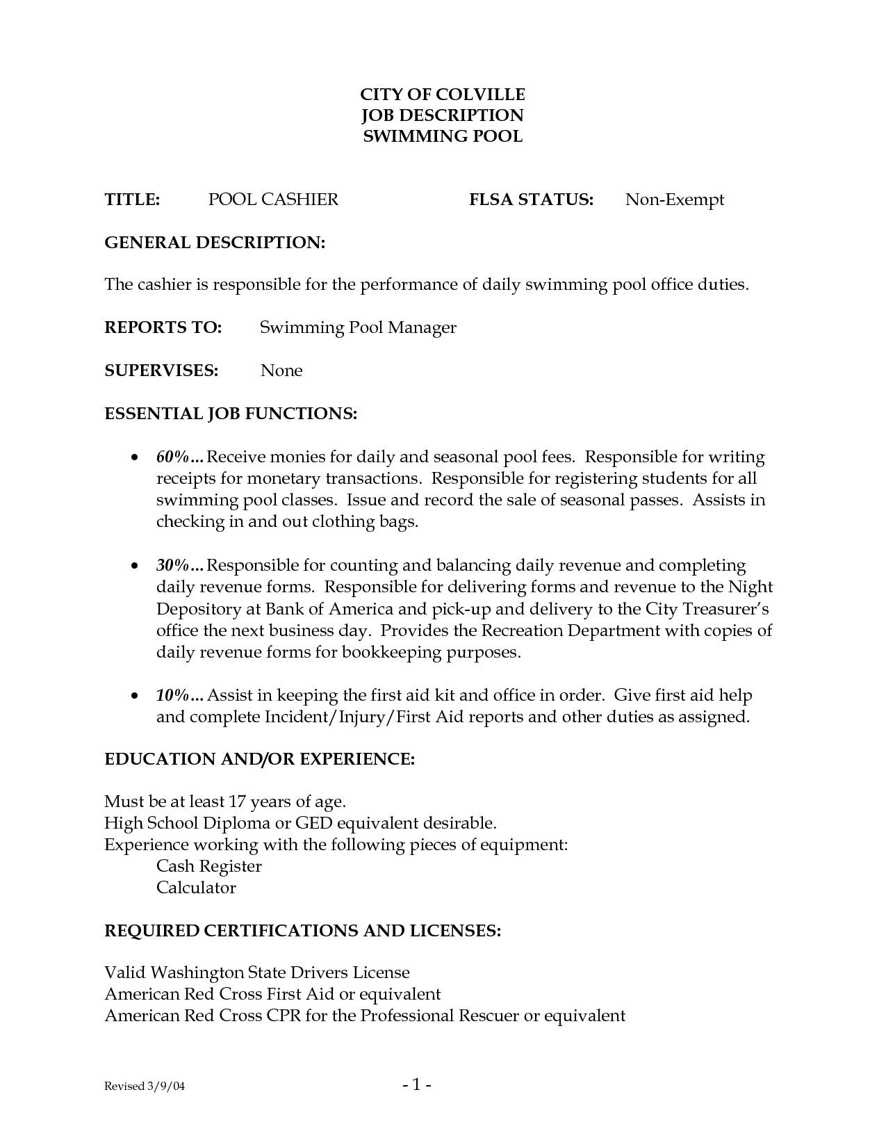 83 Excellent Mcdonalds Crew Member Job Description For Resume with Design