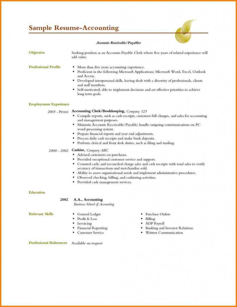 84 Awesome Accounts Receivable Resume Objective with Pictures