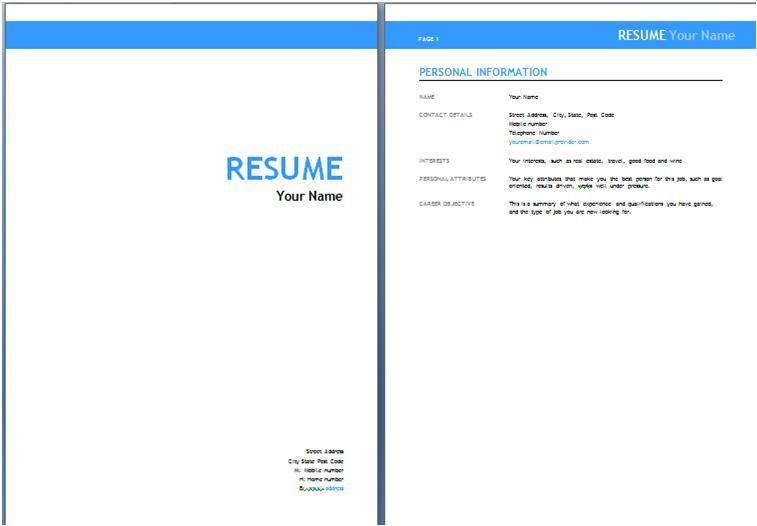86 New Resume Front Page for Graphics