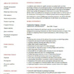 89 Stunning Accounting Resume Examples for Pics