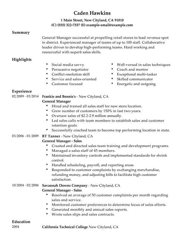 90 Excellent General Resume Objective Examples by Pics