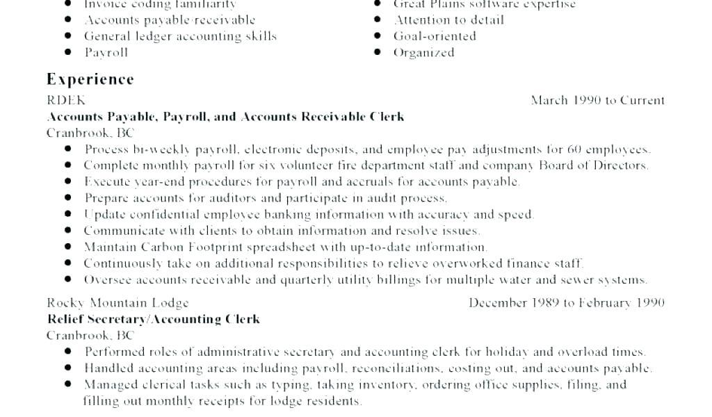 92 Best Accounts Receivable Resume Objective for Gallery