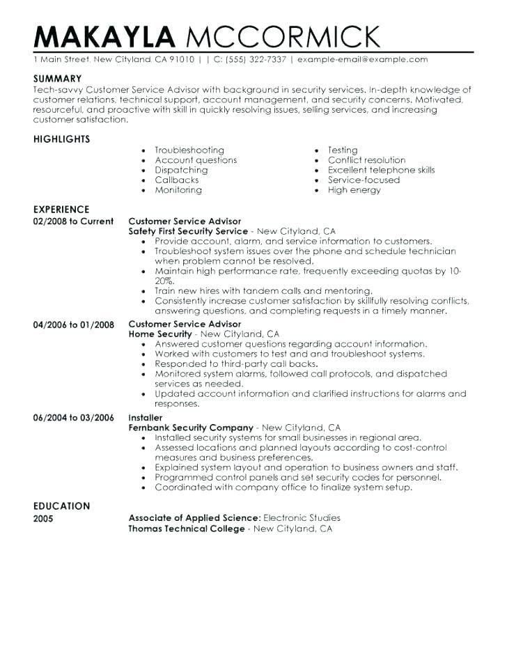 93 Awesome Service Advisor Resume with Design