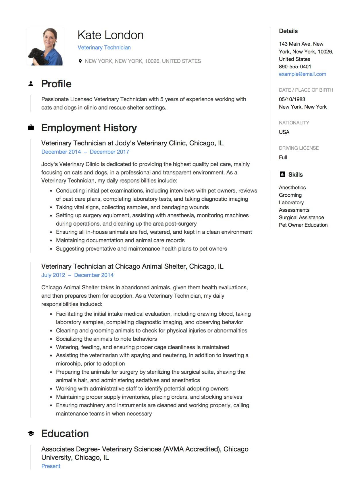 94 Great Associate Degree Resume Sample by Design