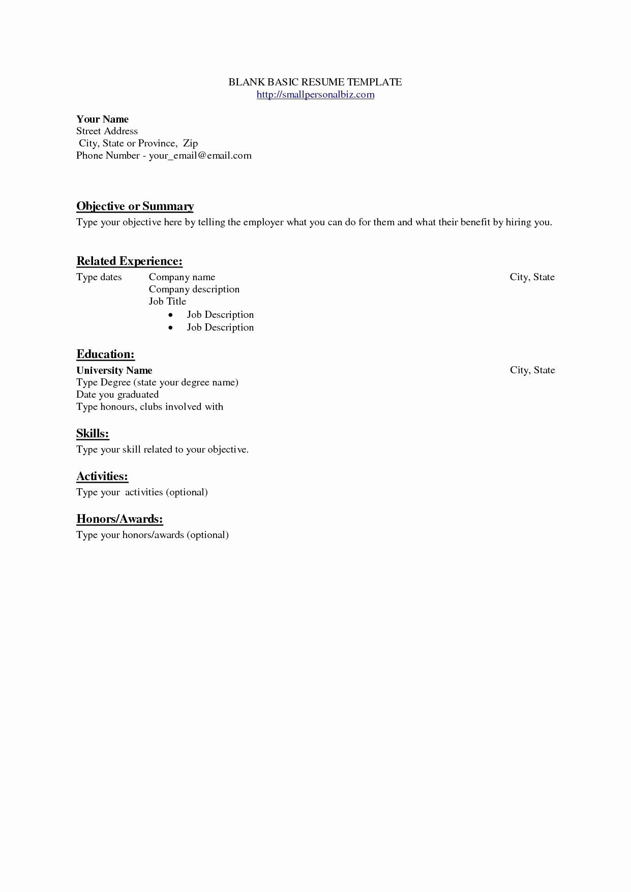 94 Lovely Dating Resume Template by Ideas