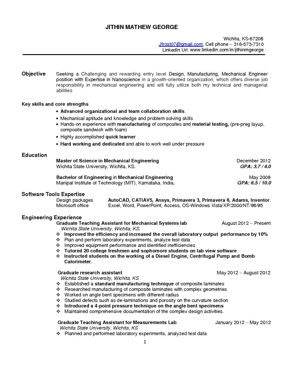 95 Great Entry Level Software Engineer Resume by Gallery