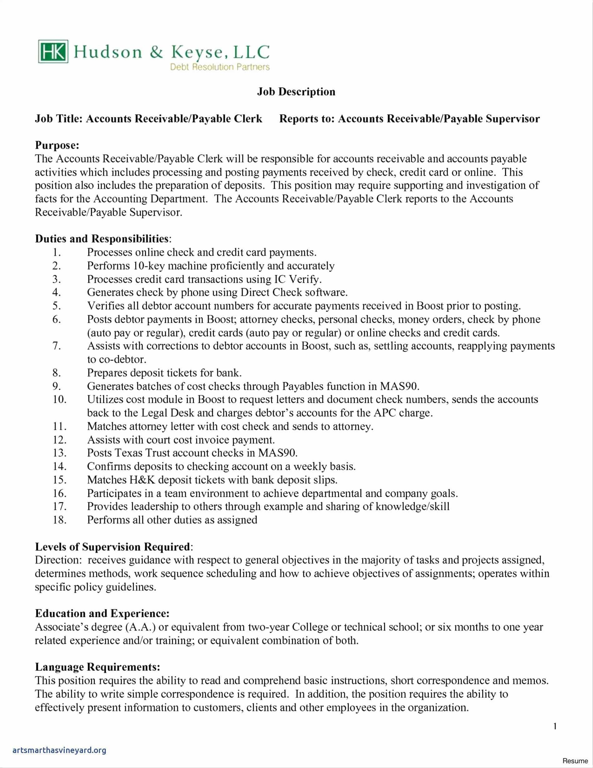 95 Stunning Accounts Receivable Resume Objective with Graphics