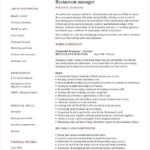 96 Awesome Restaurant Manager Resume Samples Pdf by Images