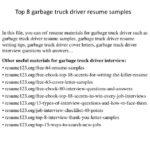 96 Cool Truck Driver Resume for Graphics