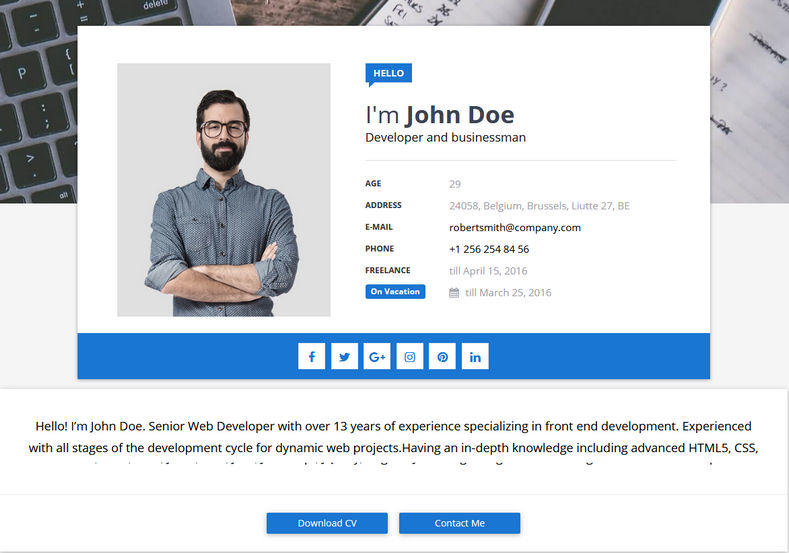 96 Stunning Blogger Resume Template with Images