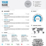 96 Stunning Infographic Resume Template Word Free Download by Design