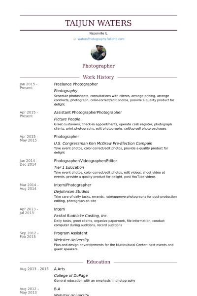 97 Best Photographer Resume Pdf by Gallery