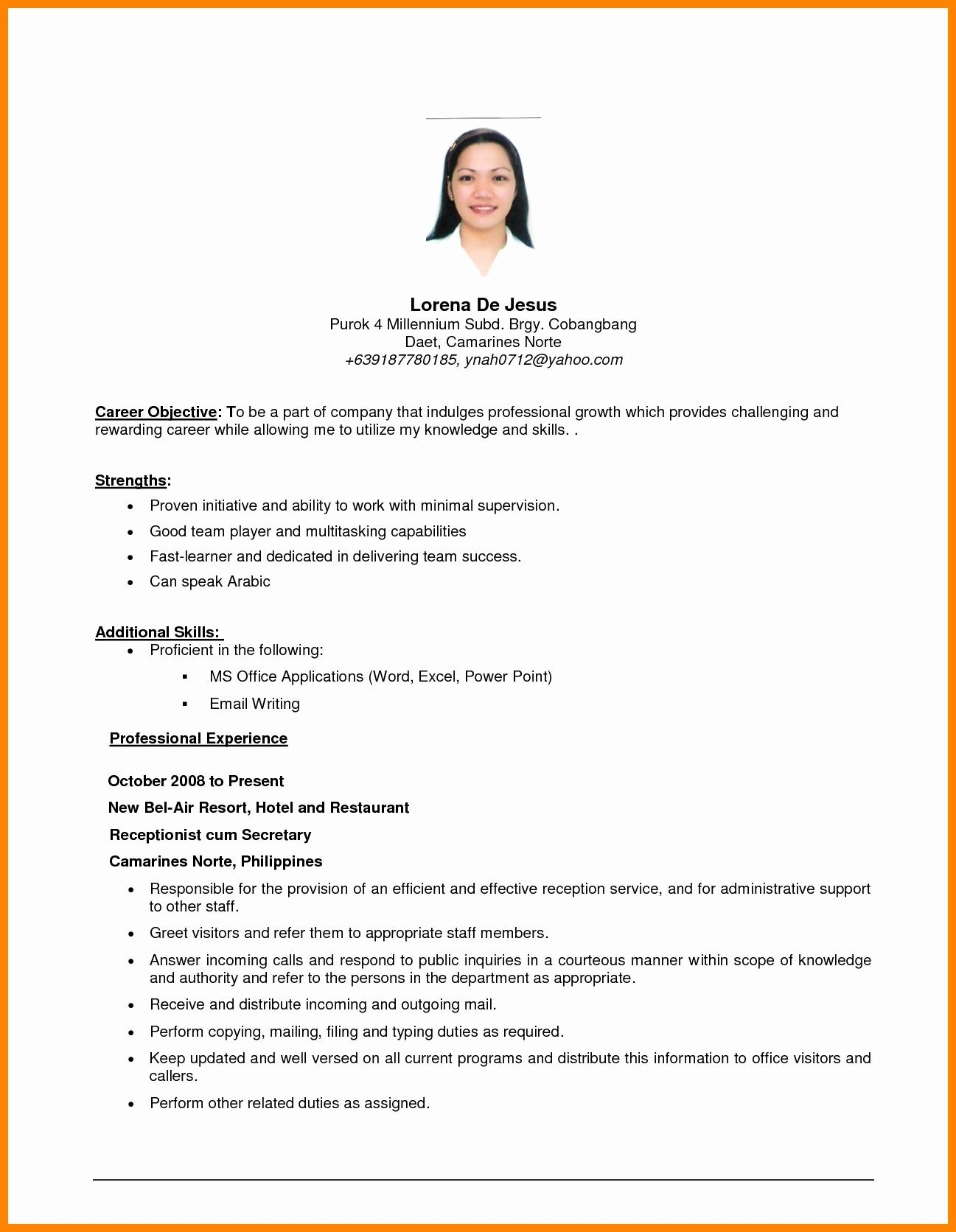 97 Top General Resume Objective Examples by Images