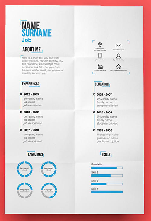 99 Nice Free Creative Resume Templates with Graphics